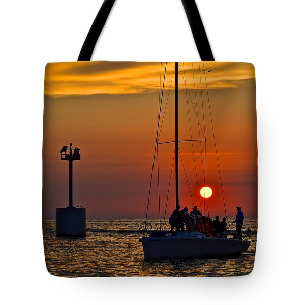 A Fine Days End Tote Bag by Frozen in Time Fine Art Photography