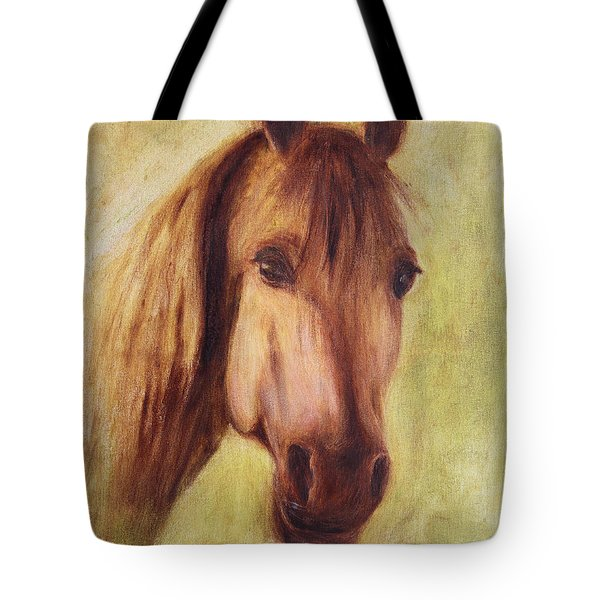 Tote Bag featuring the painting A Fine Horse by Xueling Zou