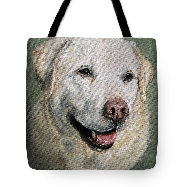 A Fine Old Lady Yellow Labrador Portrait Tote Bag