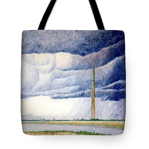 A Finger To The Sky Tote Bag