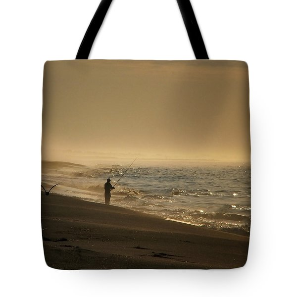 Tote Bag featuring the photograph A Fisherman's Morning by GJ Blackman