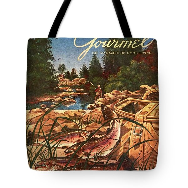 A Fishing Scene Tote Bag