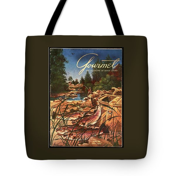 A Fishing Scene Tote Bag