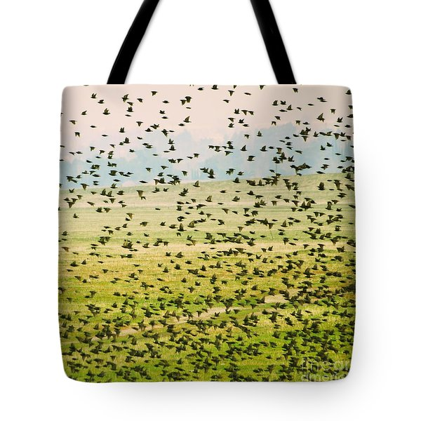 A Flock Of Freedom Tote Bag