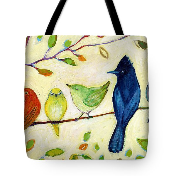 A Flock Of Many Colors Tote Bag