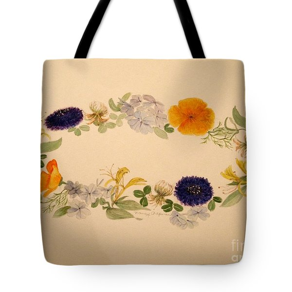 A Flower Circle Tote Bag