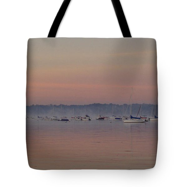 Tote Bag featuring the photograph A Foggy Fishing Day by John Telfer