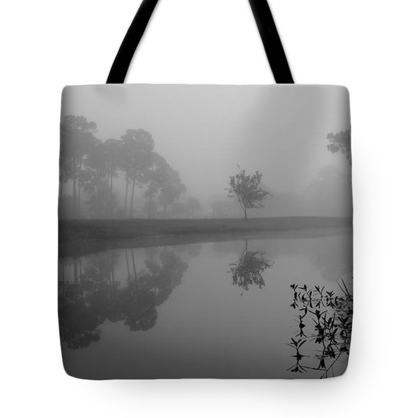 A Foggy Morning Tote Bag