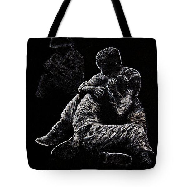 Tote Bag featuring the painting My Friend Killed In Korean War by Bob Johnston