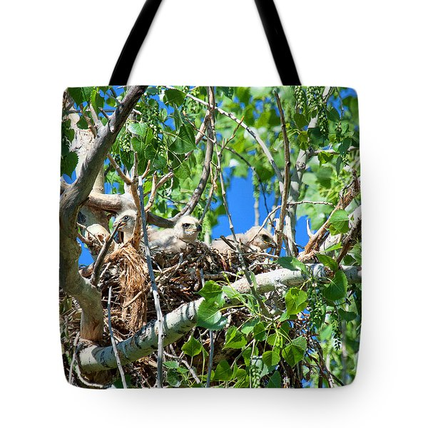 Tote Bag featuring the photograph A Fowl Foursome by Jim Garrison