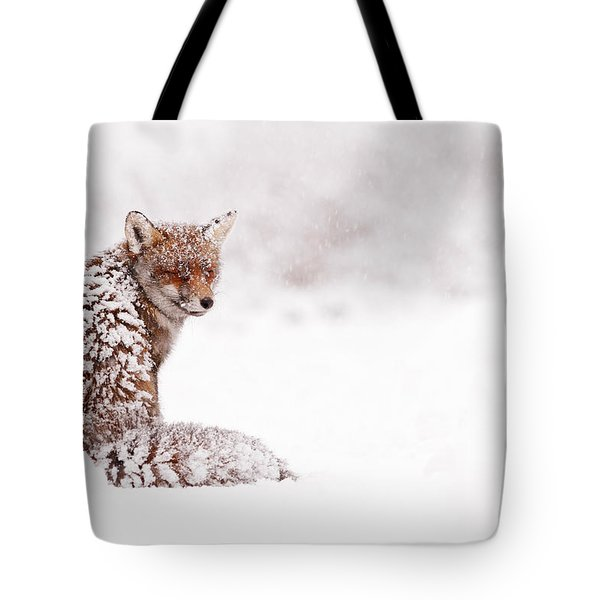A Red Fox Fantasy Tote Bag by Roeselien Raimond