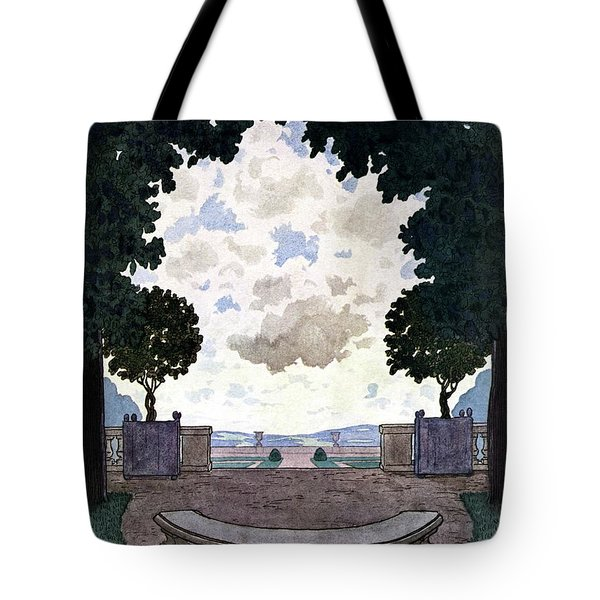 A French Formal Garden Tote Bag