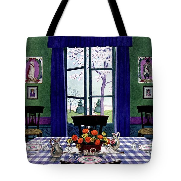 A French Provincial Dining Room Tote Bag