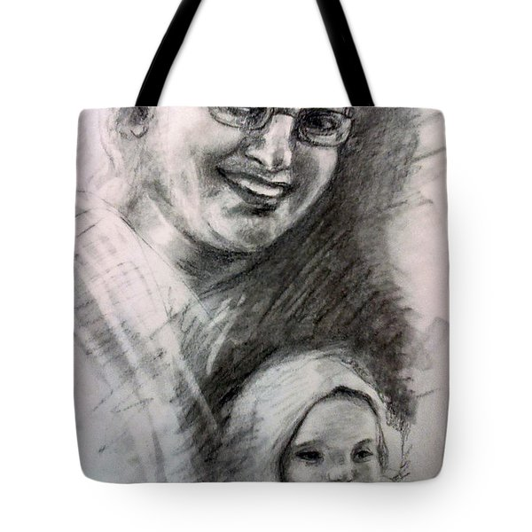 A Friend Wit Her Nephew Tote Bag