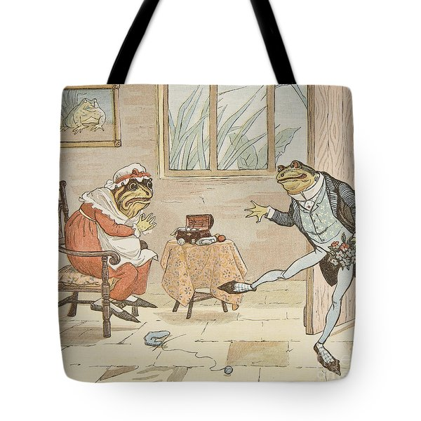 A Frog He Would A Wooing Go Tote Bag