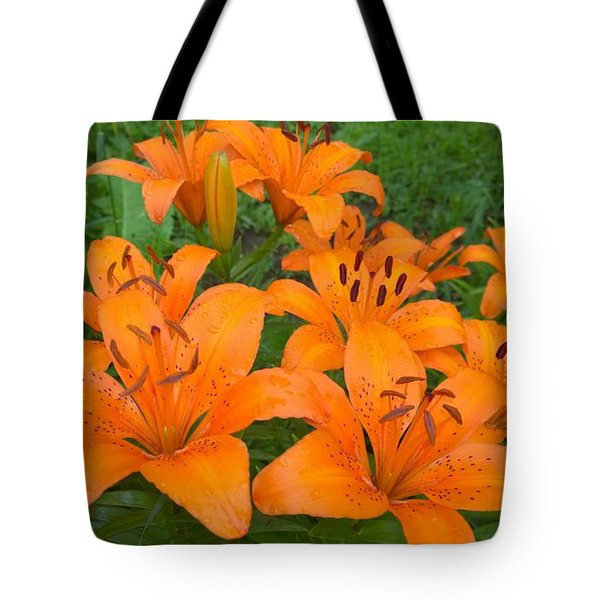 A Garden Full Of Lilies Tote Bag
