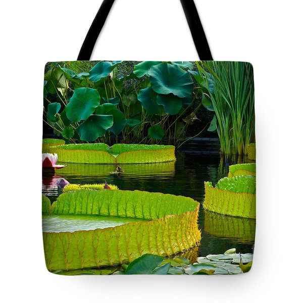 A Garden In Gentle Waters Tote Bag