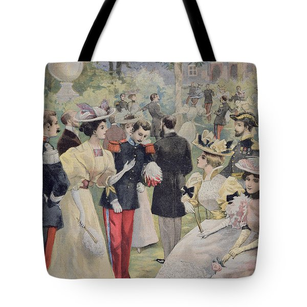 A Garden Party At The Elysee Tote Bag by Fortune Louis Meaulle