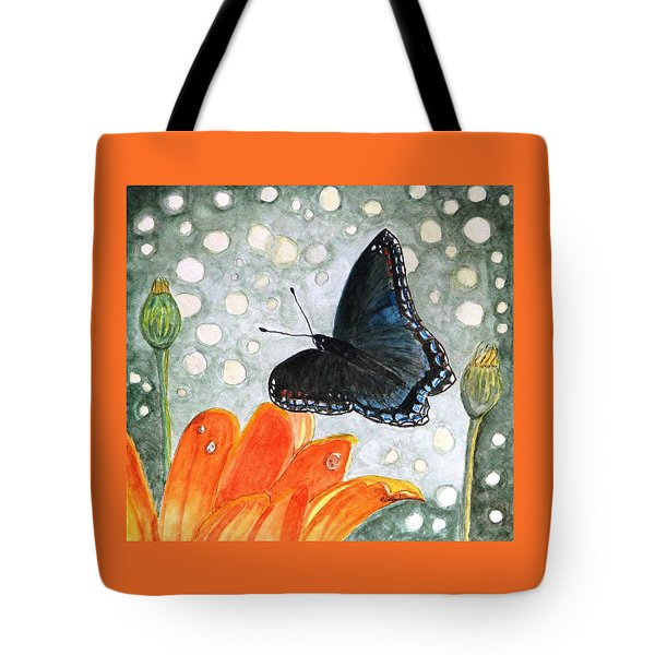 A Garden Visitor Tote Bag by Angela Davies