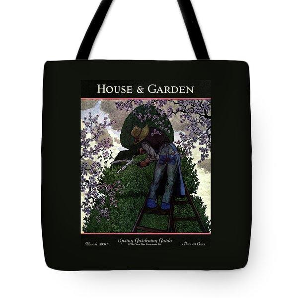 A Gardener Pruning A Tree Tote Bag
