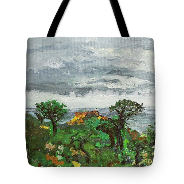 A Gathering Before Red Butte Tote Bag by Joseph Demaree
