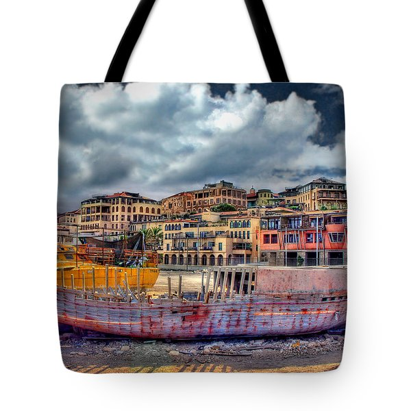 Tote Bag featuring the photograph A Genesis Sunrise Over The Old City by Ronsho