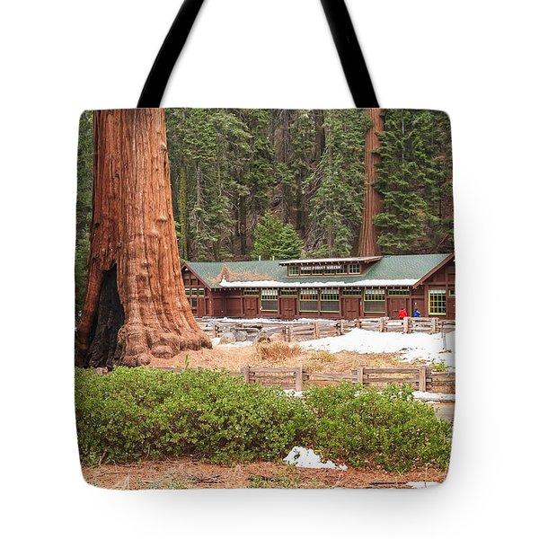 A Giant Among Trees Tote Bag by Muhie Kanawati