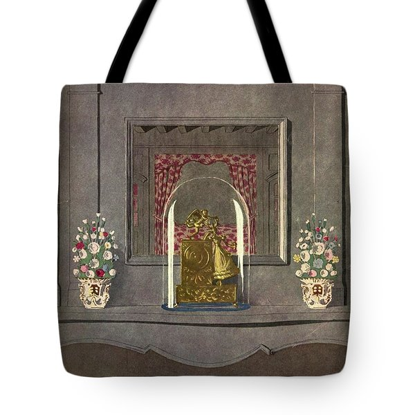 A Gilded Mantle Clock In A Bell Jar Tote Bag
