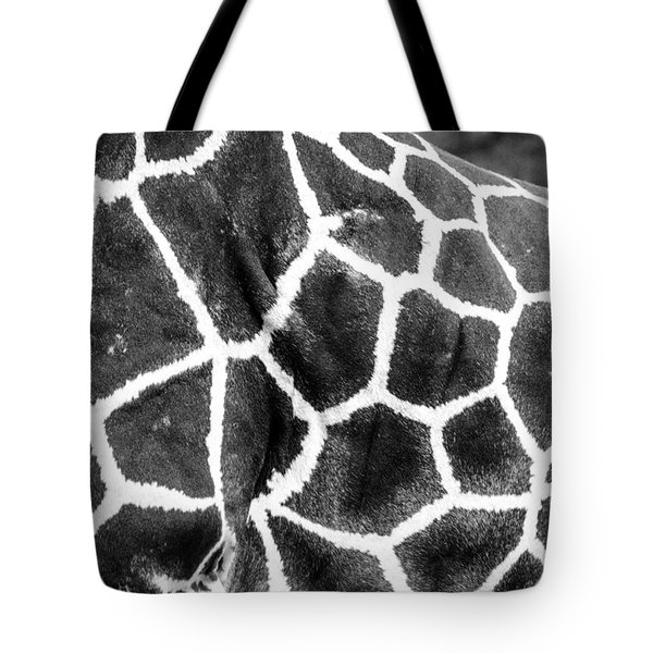 Tote Bag featuring the photograph A Giraffe's Maze by Steven Santamour