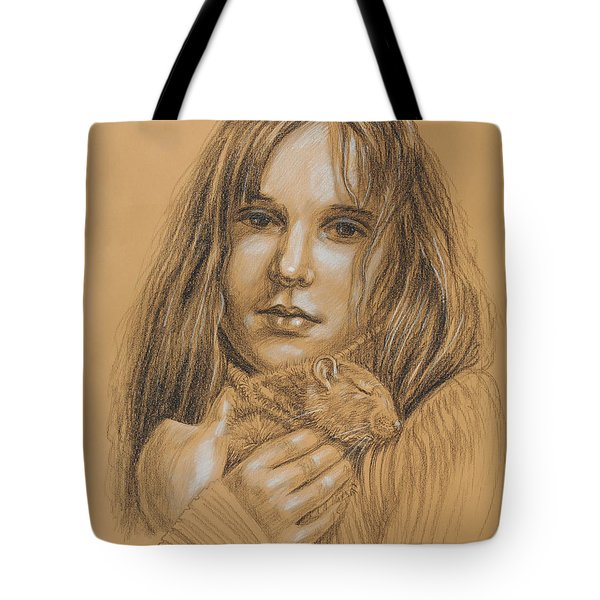 A Girl With The Pet Tote Bag
