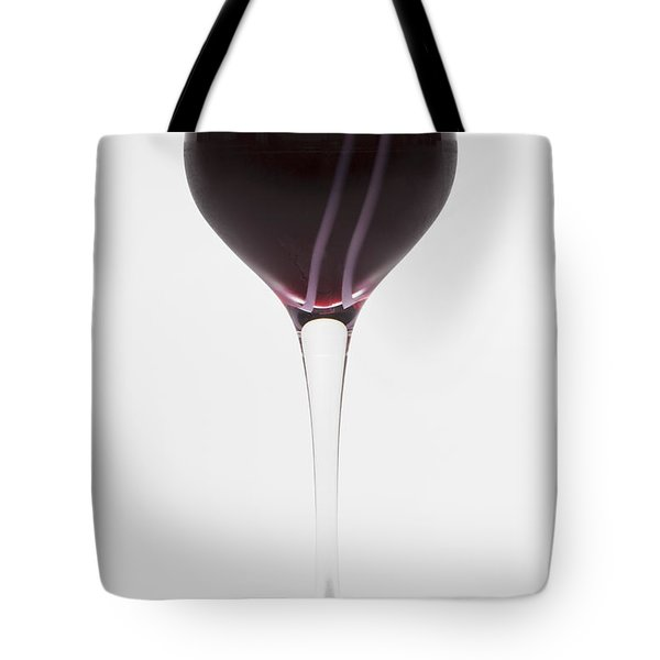 A Glass Of Red Wine Tote Bag by Diane Macdonald
