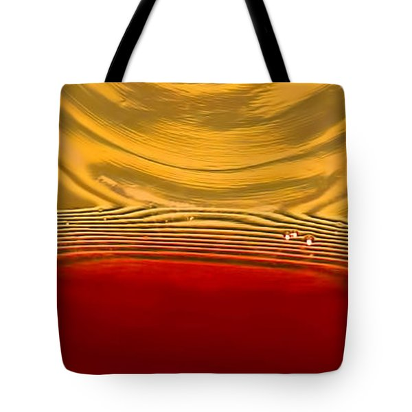 A Glass Of Wine-backlit With Blinds-and Wow Tote Bag by Gary Holmes