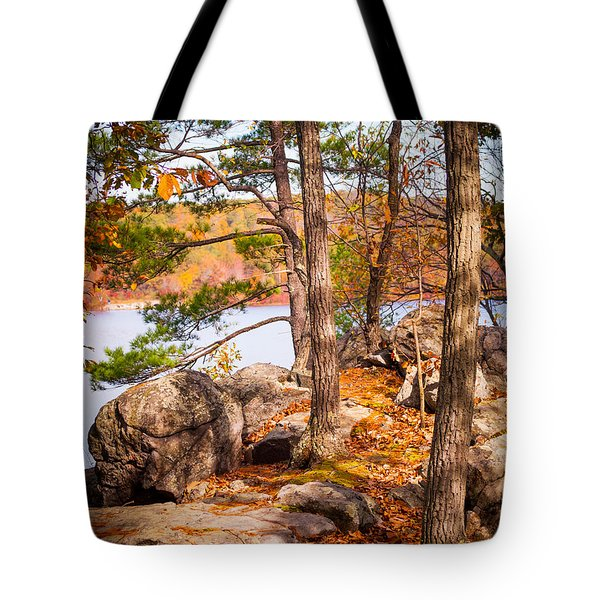 A Glimpse Of Ramapo Lake Tote Bag