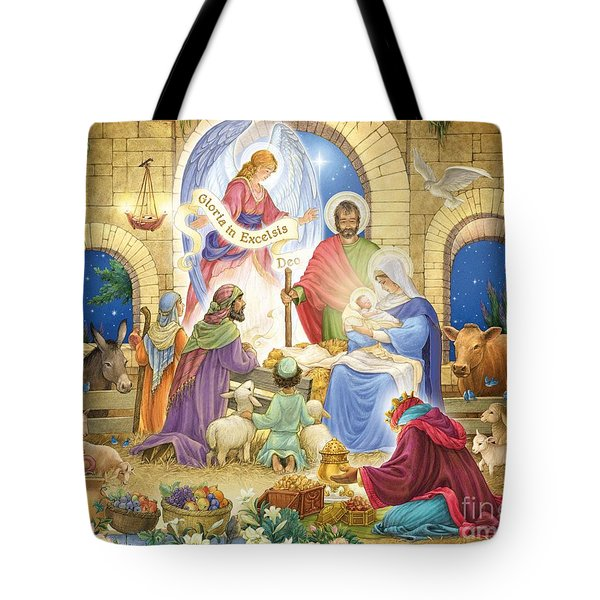 A Glorious Nativity Tote Bag