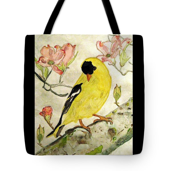 A Goldfinch Spring Tote Bag