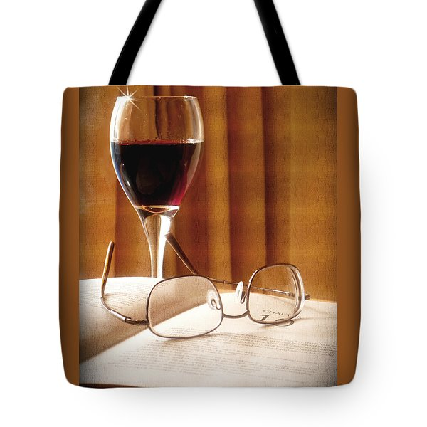 A Good Book And A Glass Of Wine Tote Bag