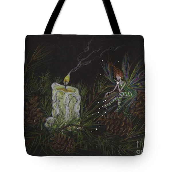 Tote Bag featuring the drawing A Good Long Think by Dawn Fairies