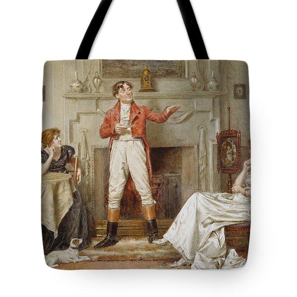A Good Story Tote Bag by George Goodwin Kilburne
