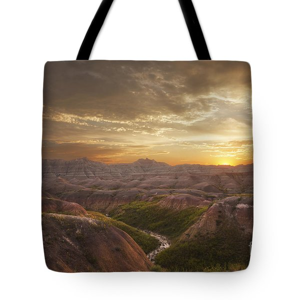 A Good Sunrise In The Badlands Tote Bag
