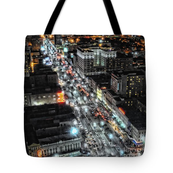 A Gothic Night In New Orleans On Canal Street Tote Bag
