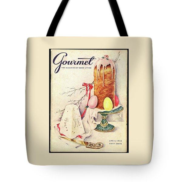 A Gourmet Cover Of A Cake Tote Bag