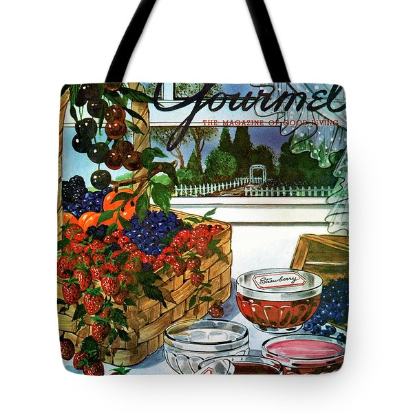 A Gourmet Cover Of A Fruit Basket Tote Bag