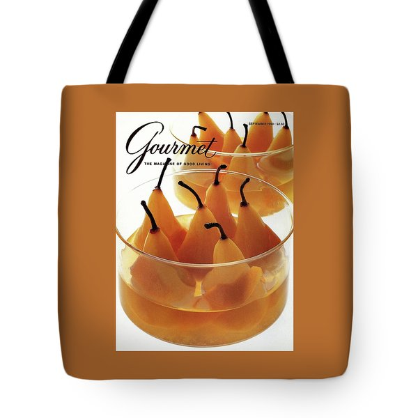 A Gourmet Cover Of Baked Pears Tote Bag by Romulo Yanes