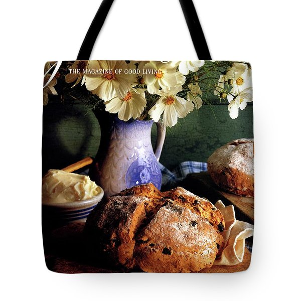 A Gourmet Cover Of Bread And Flowers Tote Bag