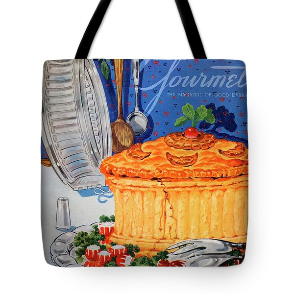 A Gourmet Cover Of Pate En Croute Tote Bag