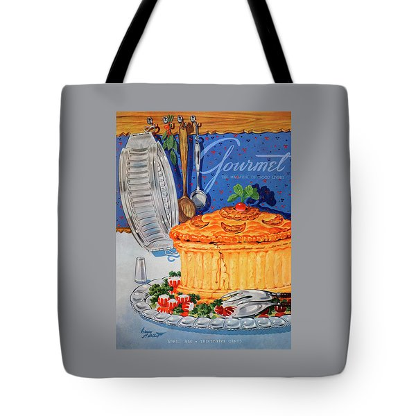 A Gourmet Cover Of Pate En Croute Tote Bag