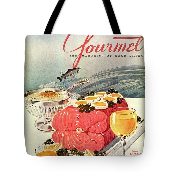A Gourmet Cover Of Poached Salmon Tote Bag