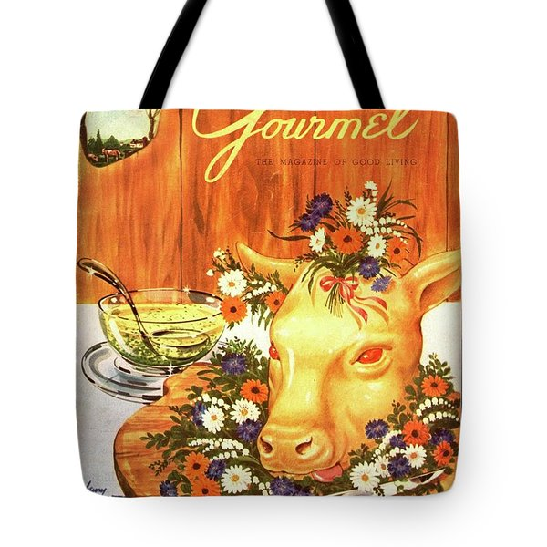 A Gourmet Cover Of Tete De Veau Tote Bag