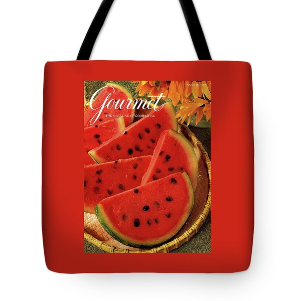 A Gourmet Cover Of Watermelon Sorbet Tote Bag