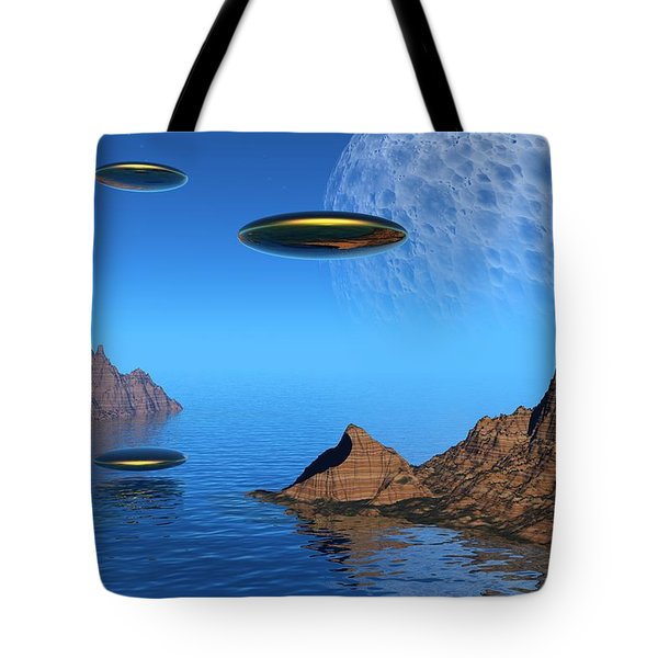 Tote Bag featuring the digital art A Great Day For Flying by Lyle Hatch